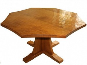 ROBERT MOUSEMAN THOMPSON ADZED OCTAGONAL DINING TABLE 1