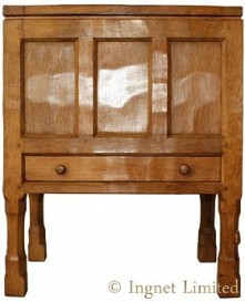 PETER RABBITMAN HEAP OF WETWANG YORKSHIRE OAK SEWING BOX