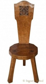 THOMAS GNOMEMAN WHITTAKER OAK SPINNING STOOL