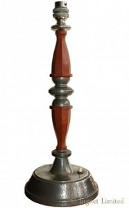 LIBERTY & CO TUDRIC PEWTER TABLE LAMP 1