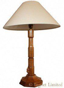 COLIN BEAVERMAN ALMACK YORKSHIRE LARGE OAK TABLE LAMP