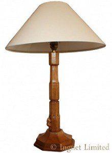 COLIN BEAVERMAN ALMACK YORKSHIRE LARGE OAK TABLE LAMP 1