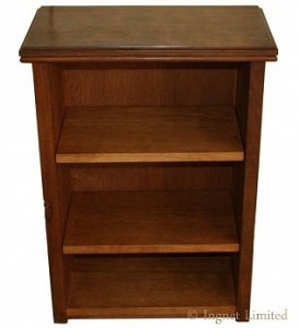 ROBERT MOUSEMAN THOMPSON SMALL BOOKCASE WITH ADZED TOP 1
