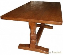 ROBERT MOUSEMAN THOMPSON VINTAGE DOWELLED TOP 5 FOOT DINING TABLE