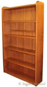ROBERT MOUSEMAN THOMPSON VERY LARGE OAK BOOKCASE 1