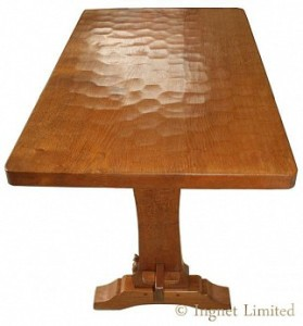 DON CRAVEN FOXMAN ADZED GOLDEN OAK HALL TABLE 1