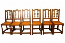 ROBERT MOUSEMAN THOMPSON RARE SET OF 6 EARLY OAK DINING CHAIRS