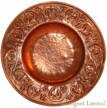 KESWICK SCHOOL OF INDUSTRIAL ART KSIA A RARE AND FINE ARTS & CRAFTS COPPER ALMS DISH BY WILLIAM HENRY MAWSON