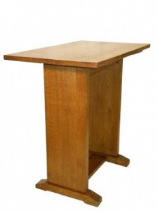 GORDON RUSSELL SIGNATURE GOLDEN OAK STRETCHER TABLE 1