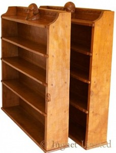 THOMAS GNOMEMAN WHITTAKER OF LITTLEBECK PAIR OF YORKSHIRE OAK BOOKCASES 1