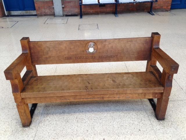 Mouseman Bench at Darlington train station