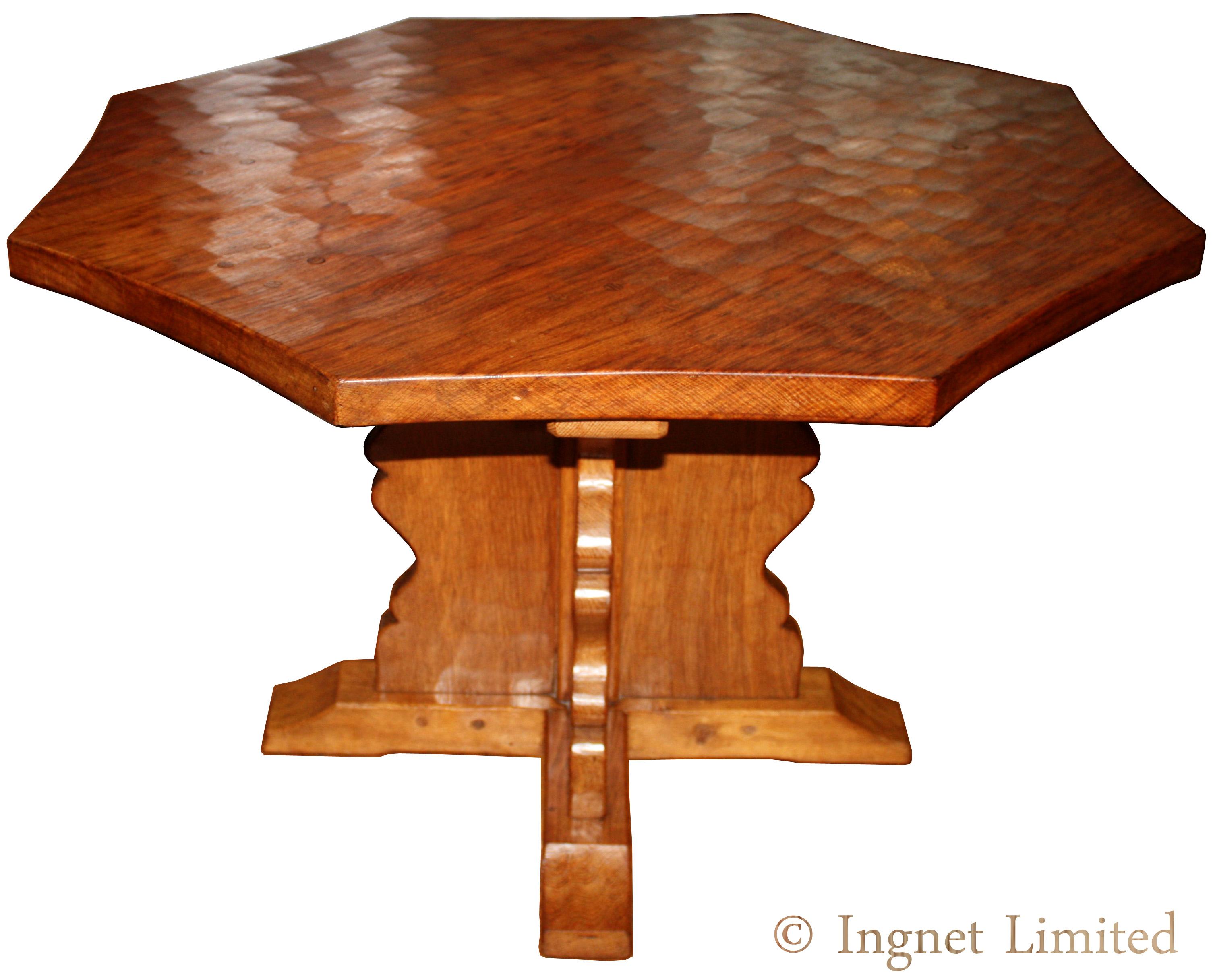 SID POLLARD OCTAGONAL OAK ADZED DINING TABLE Ingnet : aoctagonaldiningtable11214 from www.ingnet.co.uk size 3012 x 2435 jpeg 953kB